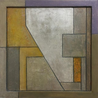 Abstract Square Geometric Oil Painting by Stephen Cimini For Sale