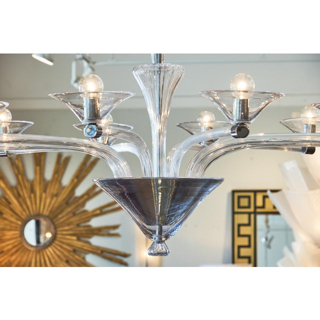Modern Modernist Customizable Murano Glass Chandelier For Sale - Image 3 of 8