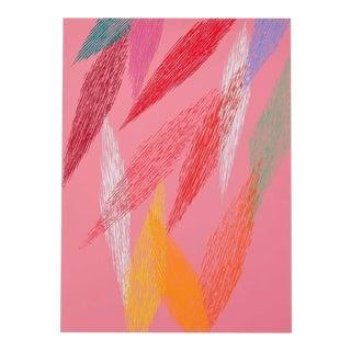"""Piero Dorazio, """"Pink Abstract"""", Screenprint For Sale"""
