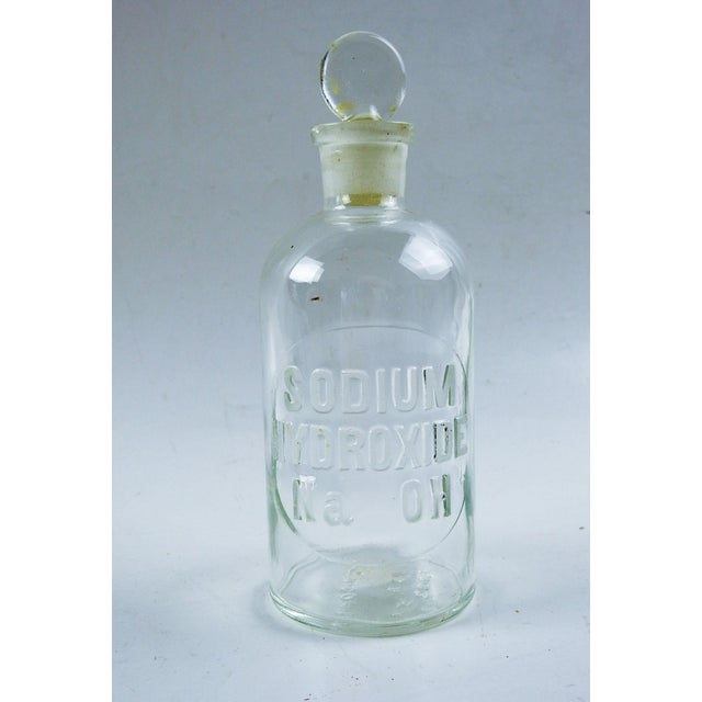 Industrial Small Vintage Apothecary Bottle For Sale - Image 3 of 3