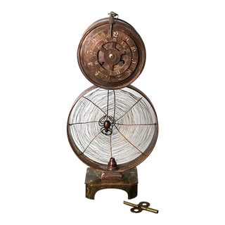 Spider Web Clock, America Circa 1900 For Sale