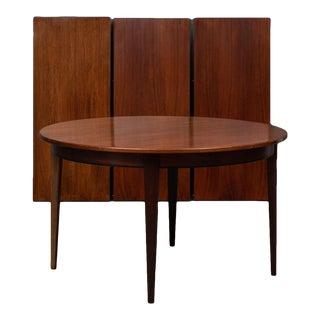 Mid-Century Modern Danish Omann Jun Three Extension Rosewood Dining Table For Sale