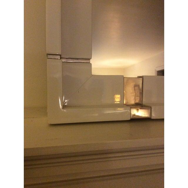 Laura Kirar White Lacquer Mirror - Image 5 of 7