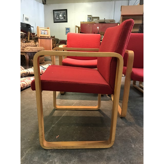 Textile J.G. Furniture Red Laminate Chairs -Set of 6 For Sale - Image 7 of 11