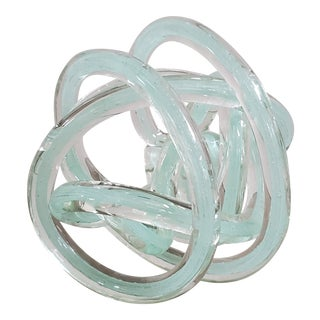 Murano Style Blown Glass Knot For Sale