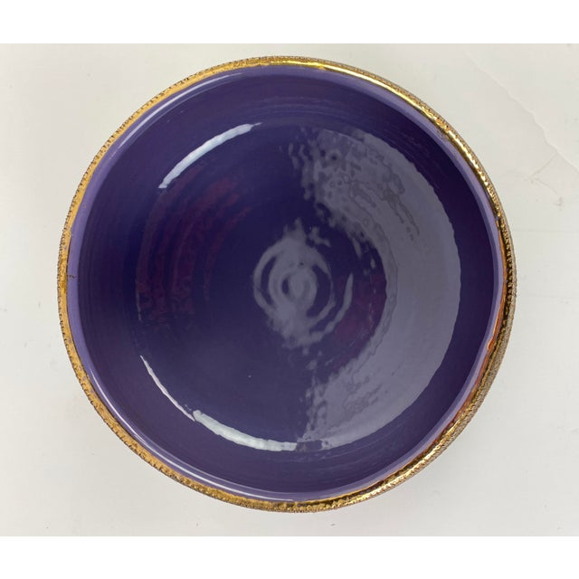 Mid-Century Modern Bitossi Multi Color Pastel Seta Bowl With Gold Accents For Sale - Image 3 of 6
