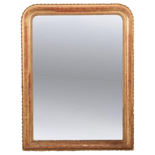 French 19th Century Gold Gilt Louis Philippe Mirror For Sale