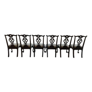 Henredon Chippendale Armless Dining Chairs - Set of 6