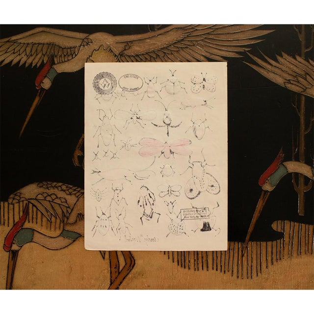 "Andy Warhol ""Happy Bug Day!"", Original Large Drawing, Signed and Sealed For Sale In Dallas - Image 6 of 9"