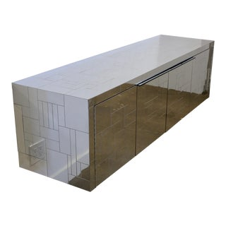 Paul Evans Wall-Mounted Cityscape Cabinet For Sale