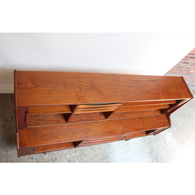 1950s Danish Teak Credenza by Ib Kofod-Larsen for Faarup For Sale - Image 5 of 13