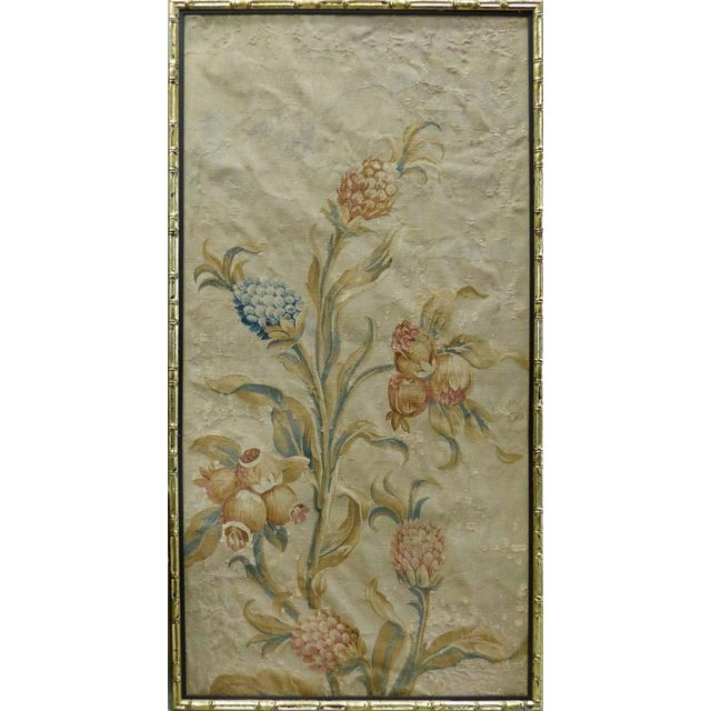 French Country 18th Century Floral Aubusson Panels, Set of Three For Sale - Image 3 of 11