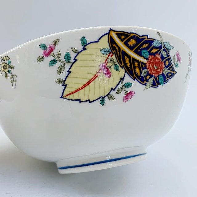 Seymour Mann Vintage Tobacco Leaf Fine China Medium Salads Serving Bowl For Sale - Image 4 of 13