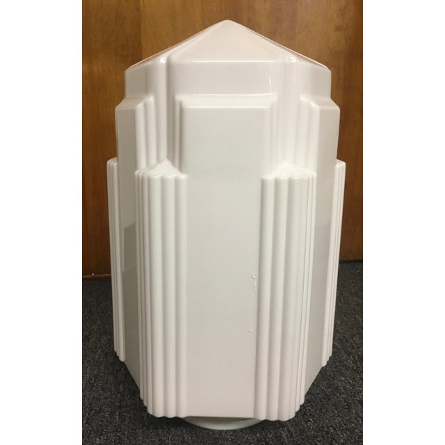 Art Deco Glass Light Fixture For Sale - Image 4 of 8