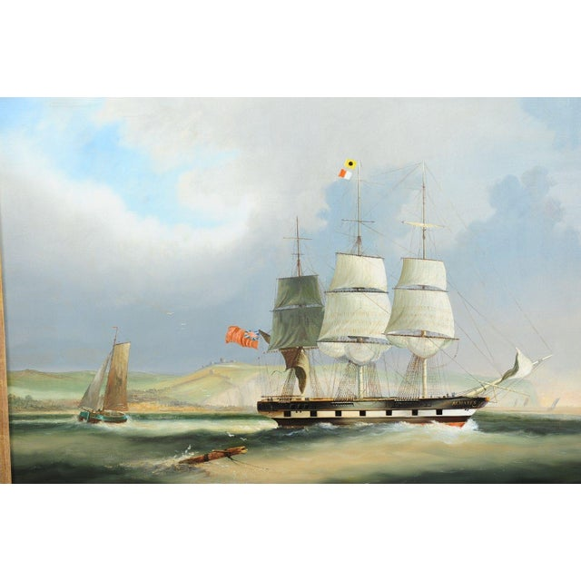 English Sail Boat - 19th Century Oil Painting - Image 4 of 12