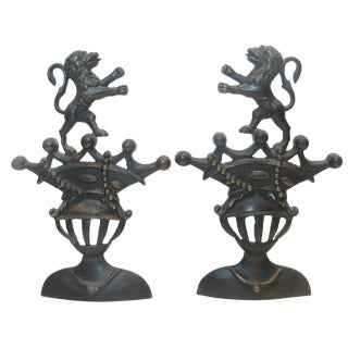 Italian Medieval Style Bronze Bookends, Pair For Sale