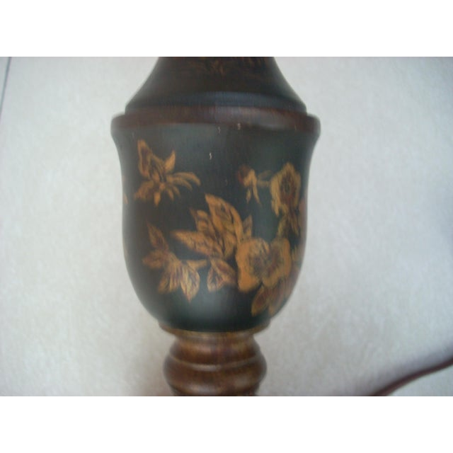 Chinoiserie Candlestick Table Lamp For Sale - Image 5 of 5