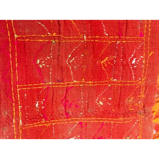 Phulkari Wedding Shawl, Silk Embroidery on Cotton, Punjab India 20th Century For Sale - Image 9 of 13
