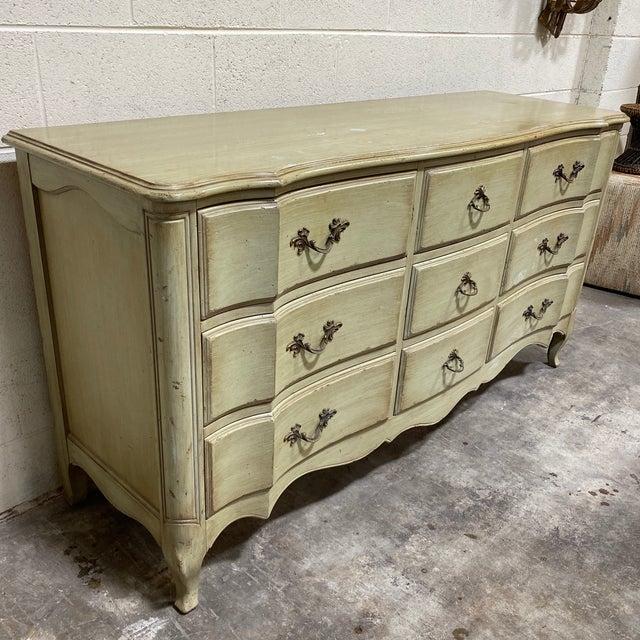 French Provincial Vintage French Provincial 9 Drawer Dresser For Sale - Image 3 of 13
