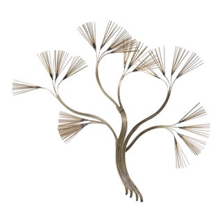 Curtis Jere Branched Tree Metal Wall Sculpture 1988
