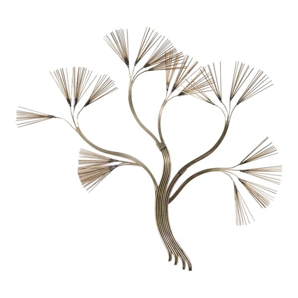 Curtis Jere Branched Tree Metal Wall Sculpture 1988 For Sale