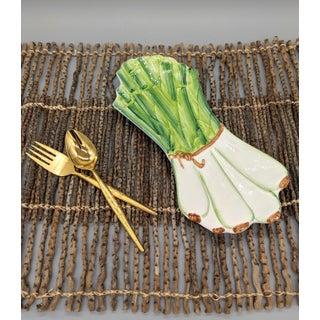 Italian Majolica Ceramiche Leonardo Leek Vegetable Tray Preview