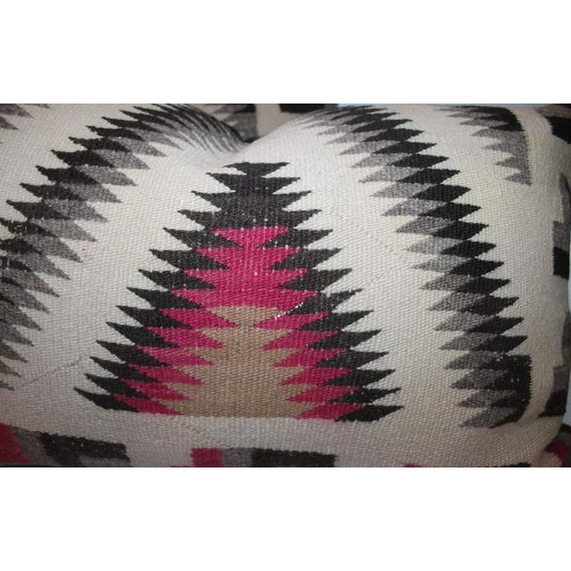 Pair of Monumental Geometric Indian Weaving Bolster Pillows For Sale In Los Angeles - Image 6 of 7