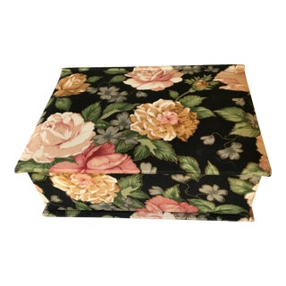 Floral Chintz Jewelry Box For Sale