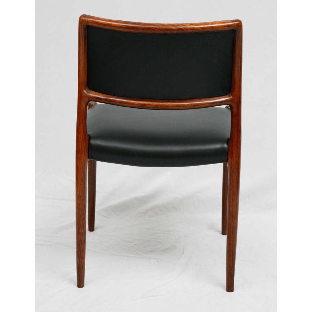 Black Set Of 6 Rosewood Niels Moller Dining Chairs For Sale - Image 8 of 9