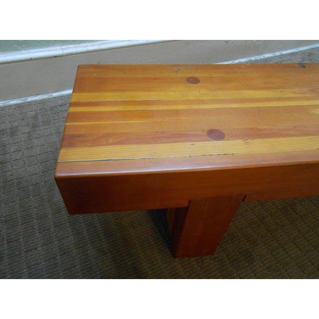 Midcentury Studio Butcher Block Coffee Table - Image 5 of 10