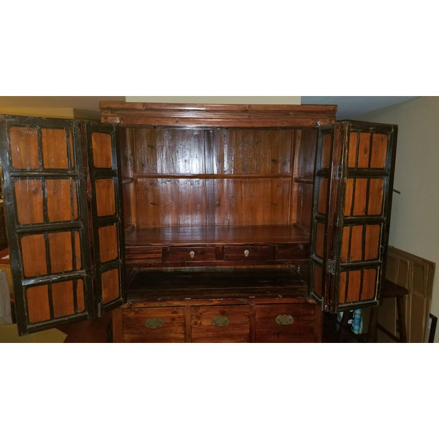 Rosewood Asian Armoire Cabinet - Chino, Ca - Image 4 of 11