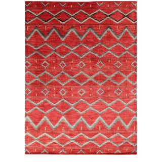"Navajo Hand Knotted Wool Rug-10'0"" X 13'8"" For Sale"