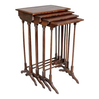 Regency Mahogany Quartetto Tables - Set of 4 For Sale