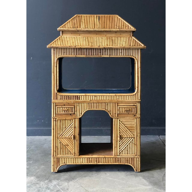 Antique Rattan Pagaoda For Sale - Image 9 of 9