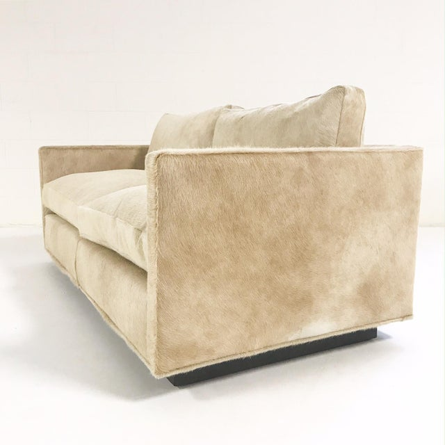 Mid-Century Modern Forsyth One of a Kind Milo Baughman for Thayer Coggin Loveseat Sofa in Palomino Brazilian Cowhide For Sale - Image 3 of 11