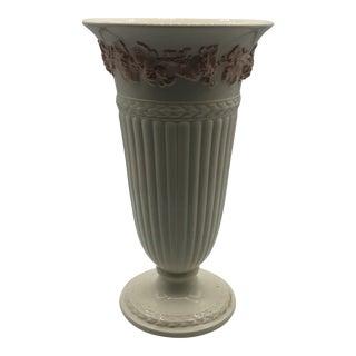 Wedgwood Edme Peach Flower Detail Vase For Sale