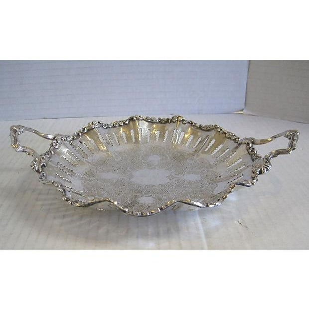 English Silver Handled Pierced Dish - Image 2 of 6