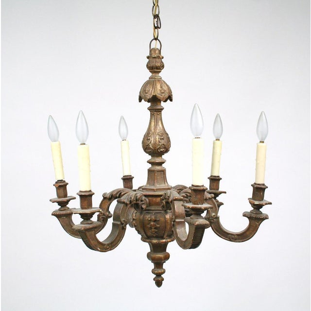 Late 19th Century 19th Century Carved Gilt Wood Chandelier For Sale - Image 5 of 5