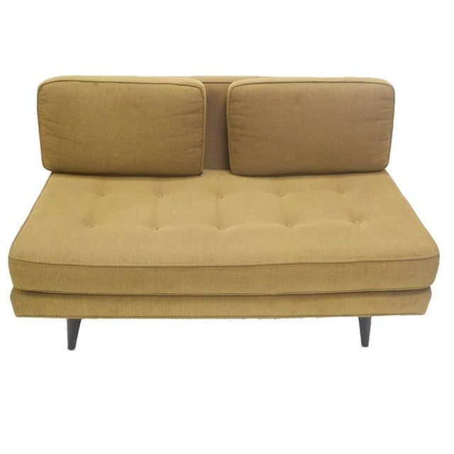 Edward Wormley Elegant Two-Seat Edward Wormley for Dunbar Settee Sofa For Sale - Image 4 of 7