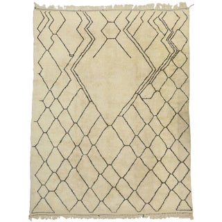 Contemporary Berber Moroccan Oversize Rug - 9′10″ × 13′ For Sale