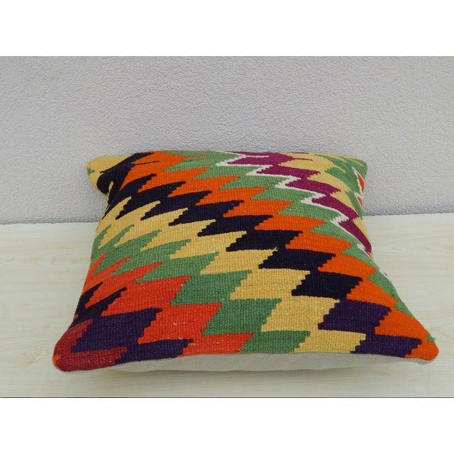 Turkish Handmade Kilim Pillow For Sale - Image 4 of 6