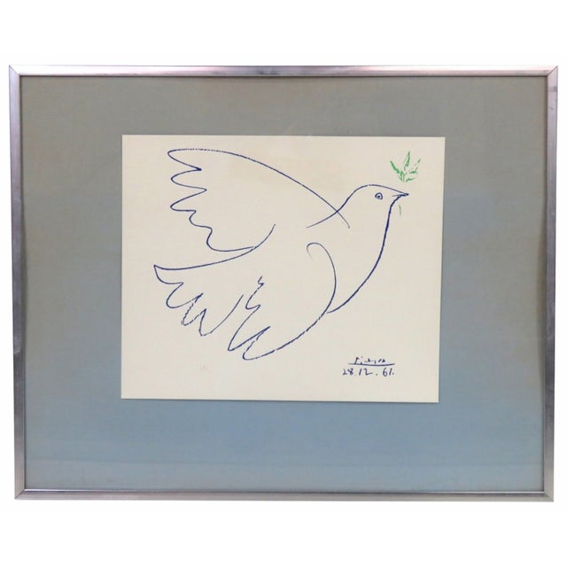 Picasso Dove Lithograph - Image 1 of 2