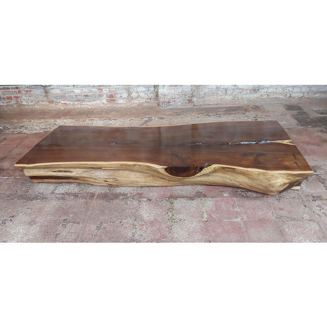 """African Leadwood Slab """"Monumental"""" coffee Table size 81 x 39 x 10"""" A beautiful piece that will add to your décor! This..."""