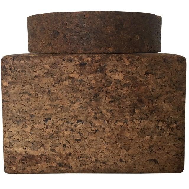 Vintage Cork Tobacco Humidor - Image 1 of 10