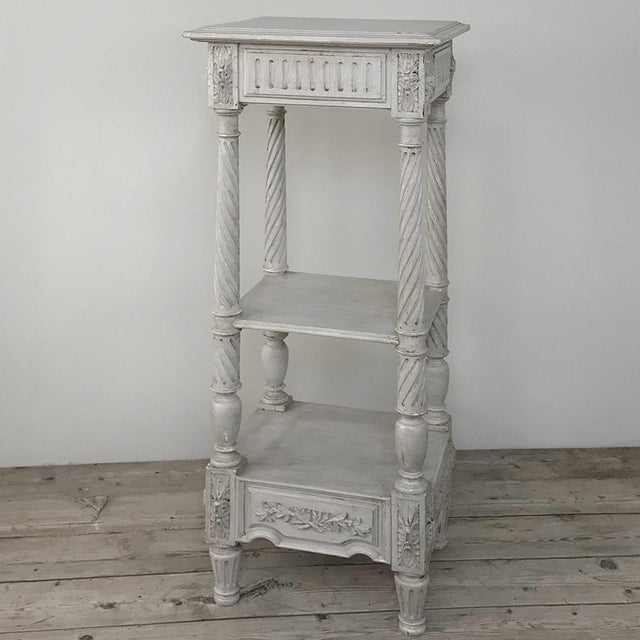 Late 19th Century 19th Century French Louis XVI Painted Pedestal For Sale - Image 5 of 13