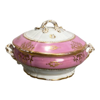 A Paris Porcelain Covered Bowl, France 19th Century For Sale