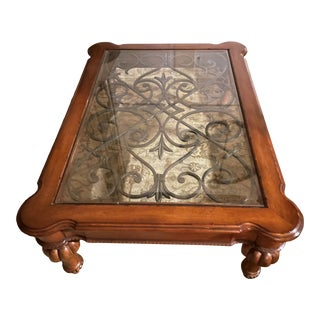 Ethan Allen Tuscan Style Coffee Table For Sale