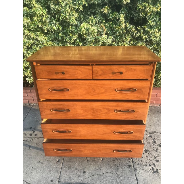 Mid-Century Tall Boy Dresser by Morganton For Sale - Image 9 of 13