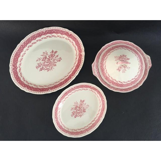 Pink Vintage Avon Pattern Grindley-England Serving Dishes - Set of 3 For Sale - Image 8 of 9