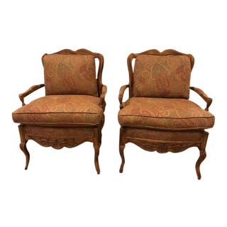 21st Century French Country Bergere Chairs- A Pair For Sale